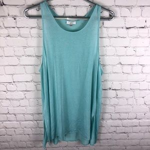 Aritzia Wilfred Tank Top Aqua Size Large